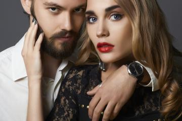 fashionable beautiful couple.sexy woman with handsome man.girl and boy