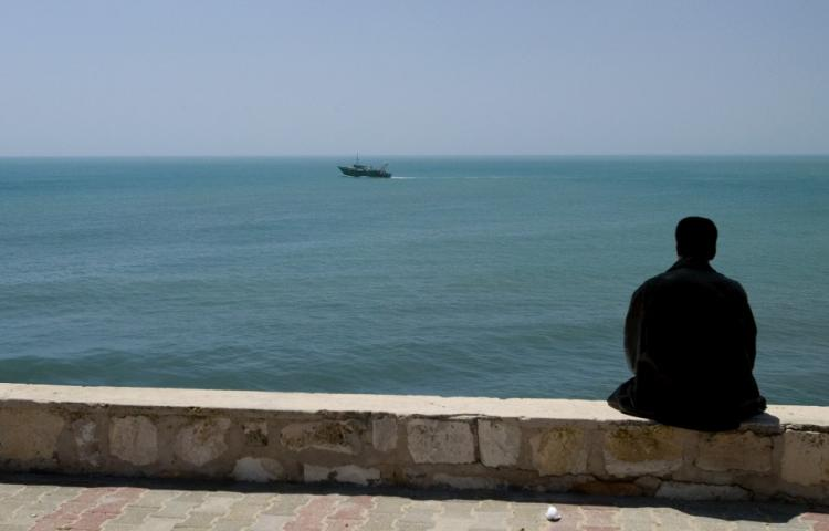 Watching the horizon on Cape d'Afrique.