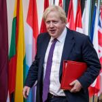 Neppremier belt met Boris Johnson